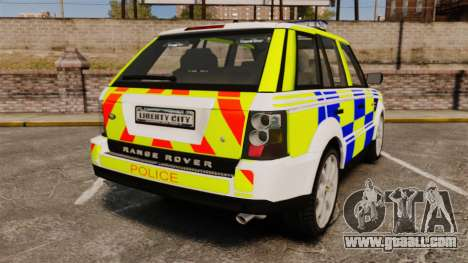 Range Rover Sport Metropolitan Police [ELS] for GTA 4 back left view