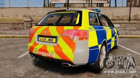 Audi S4 Avant Metropolitan Police [ELS] for GTA 4 back left view