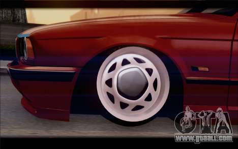 BMW E34 for GTA San Andreas back left view