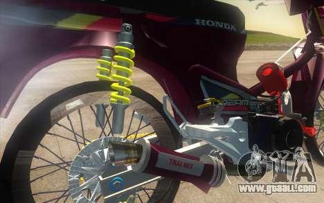 Honda Dream 100 VietNam for GTA San Andreas back view