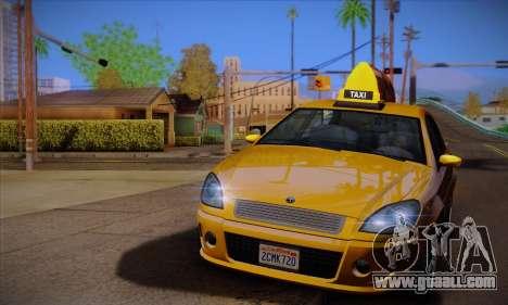 Declasse Premier Taxi for GTA San Andreas left view