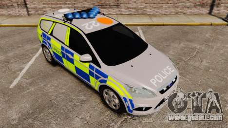 Ford Focus Estate 2009 Police England [ELS] for GTA 4 inner view