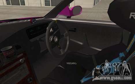 Toyota Mark 2 for GTA San Andreas inner view