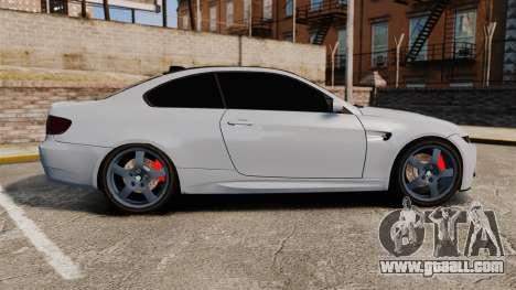 BMW M3 E92 for GTA 4 left view