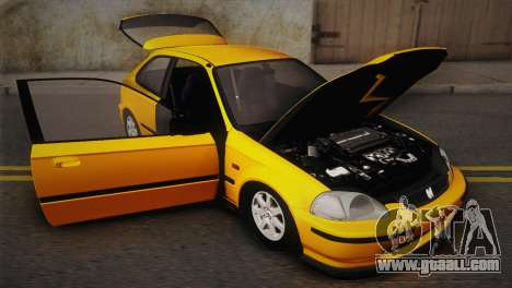 Honda Civic 1.4is TMC for GTA San Andreas inner view