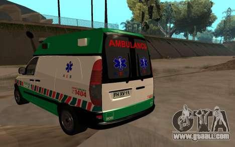 Mercedes-Benz Vito Ambulancia ACHS 2012 for GTA San Andreas left view