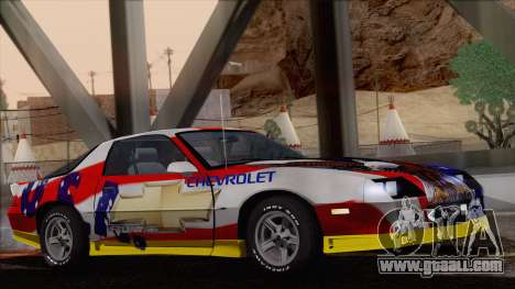 Chevrolet Camaro IROC-Z 1989 FIXED for GTA San Andreas interior