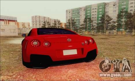 Nissan GT-R Spec V for GTA San Andreas upper view