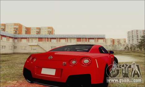 Nissan GT-R Spec V for GTA San Andreas side view