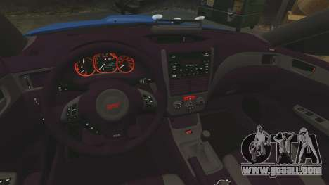 Subaru Impreza WRX STI 2011 Police [ELS] for GTA 4 side view
