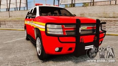 Chevrolet Tahoe Fire Chief v1.4 [ELS] for GTA 4