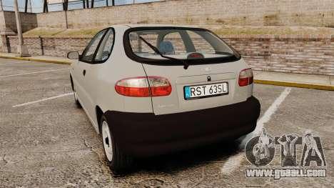 Daewoo Lanos S PL 1997 for GTA 4 back left view