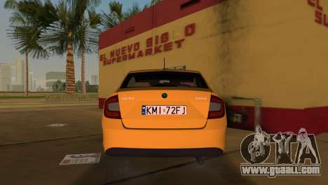 Skoda Rapid 2013 for GTA Vice City back left view