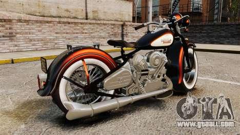 Harley-Davidson Knucklehead 1947 for GTA 4 left view