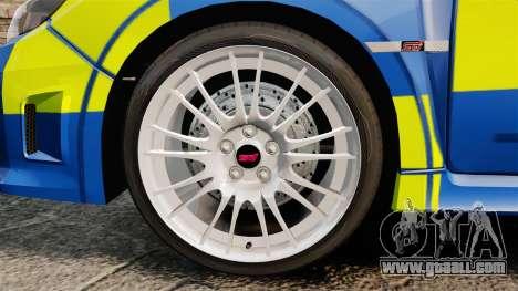 Subaru Impreza WRX STI 2011 Police [ELS] for GTA 4 back view