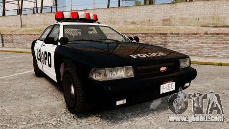 GTA V Vapid Police Cruiser LSPD for GTA 4