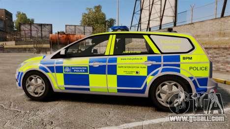 Ford Focus Estate Metropolitan Police [ELS] for GTA 4 left view