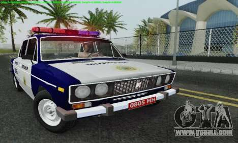 VAZ 2106 Police for GTA San Andreas upper view