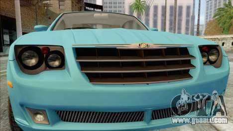 Chrysler Crossfire for GTA San Andreas back view