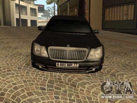 Maybach 62 V2.0 for GTA San Andreas left view