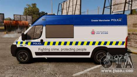 Fiat Ducato Manchester Police [ELS] for GTA 4 left view