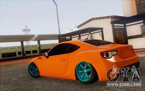 Toyota GT86 Lowstance for GTA San Andreas left view