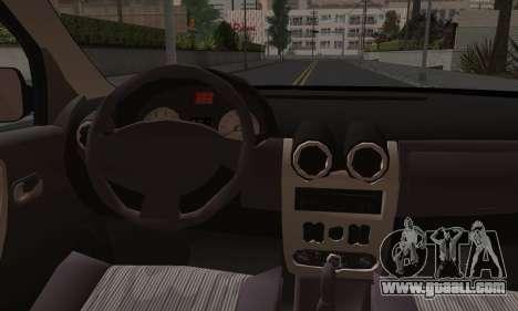 Dacia Logan for GTA San Andreas bottom view