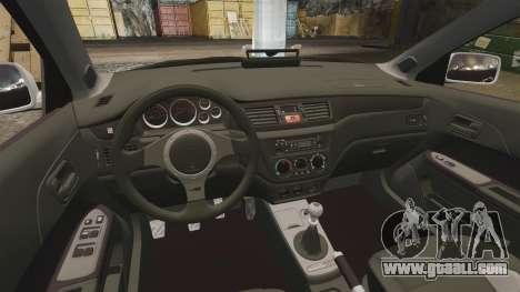 Mitsubishi Lancer Evolution IX Police [ELS] for GTA 4 inner view