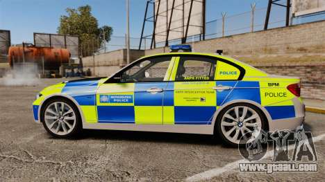 BMW F30 328i Metropolitan Police [ELS] for GTA 4 left view