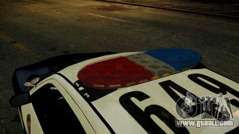 Dodge Charger LAPD 2008 for GTA 4 back view