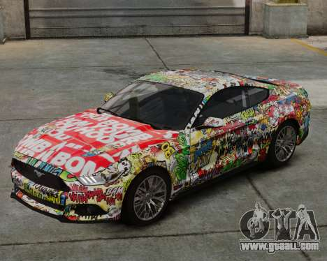 Ford Mustang GT 2015 Sticker Bombed for GTA 4