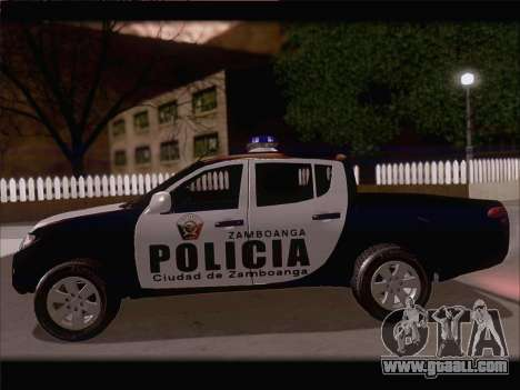 Mitsubishi L200 POLICIA for GTA San Andreas back view