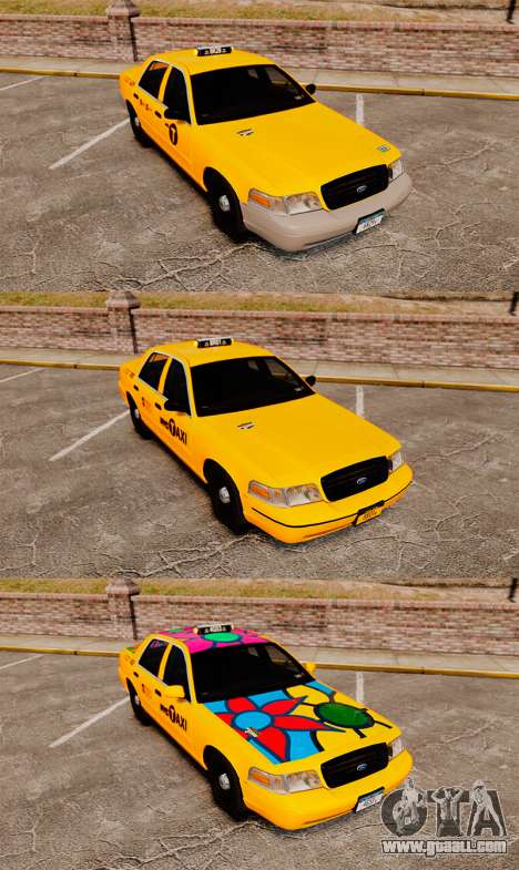 Ford Crown Victoria 1999 NYC Taxi v1.1 for GTA 4 inner view