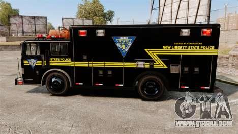 Hazmat Truck NLSP Emergency Operations [ELS] for GTA 4 left view