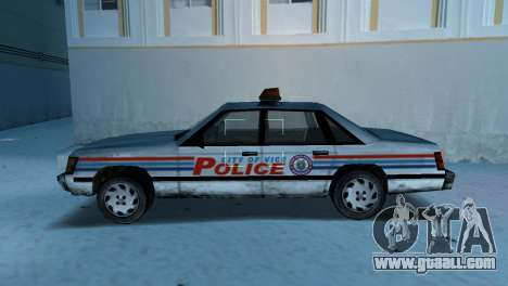 BETA Police Car for GTA Vice City left view