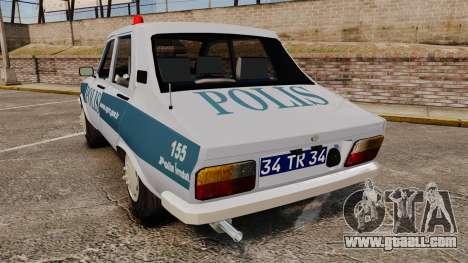 Renault 12 Turkish Police [ELS] for GTA 4 back left view