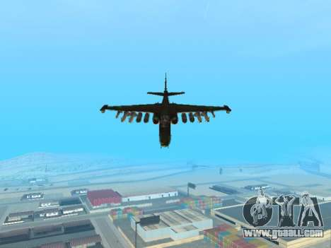 Su 25 for GTA San Andreas back left view
