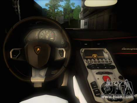 Lamborghini Aventador LP720 for GTA San Andreas inner view