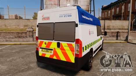 Fiat Ducato Manchester Police [ELS] for GTA 4 back left view