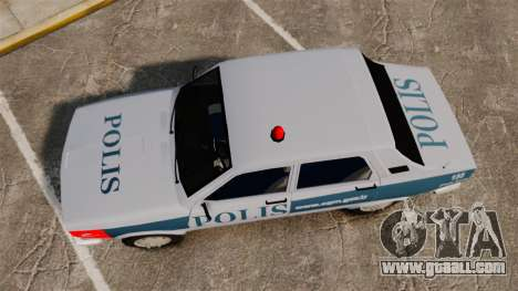 Renault 12 Turkish Police [ELS] for GTA 4 right view
