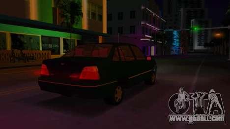 Daewoo Cielo for GTA Vice City back view