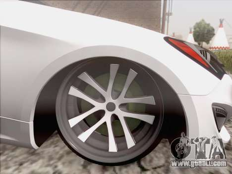 Hyundai Genesis Stance for GTA San Andreas back left view