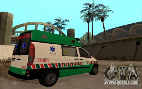 Mercedes-Benz Vito Ambulancia ACHS 2012 for GTA San Andreas back view