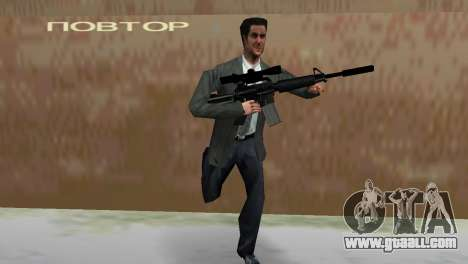 M4 with the Sniper Gun for GTA Vice City forth screenshot