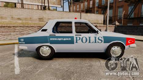 Renault 12 Turkish Police [ELS] for GTA 4 left view