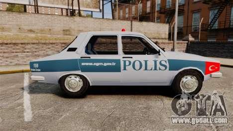 Renault 12 Turkish Police [ELS] for GTA 4 left view