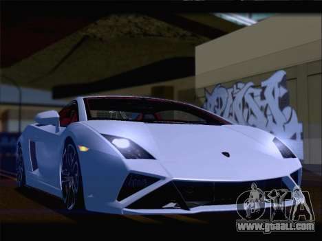 Lamborghini Gallardo 2013 for GTA San Andreas bottom view