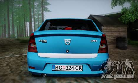 Dacia Logan for GTA San Andreas side view