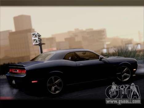 Dodge Challenger SRT8 2012 HEMI for GTA San Andreas bottom view