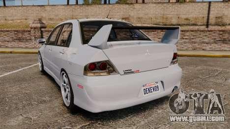 Mitsubishi Lancer Unmarked Police [ELS] for GTA 4 back left view